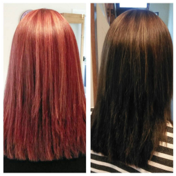colour before and after